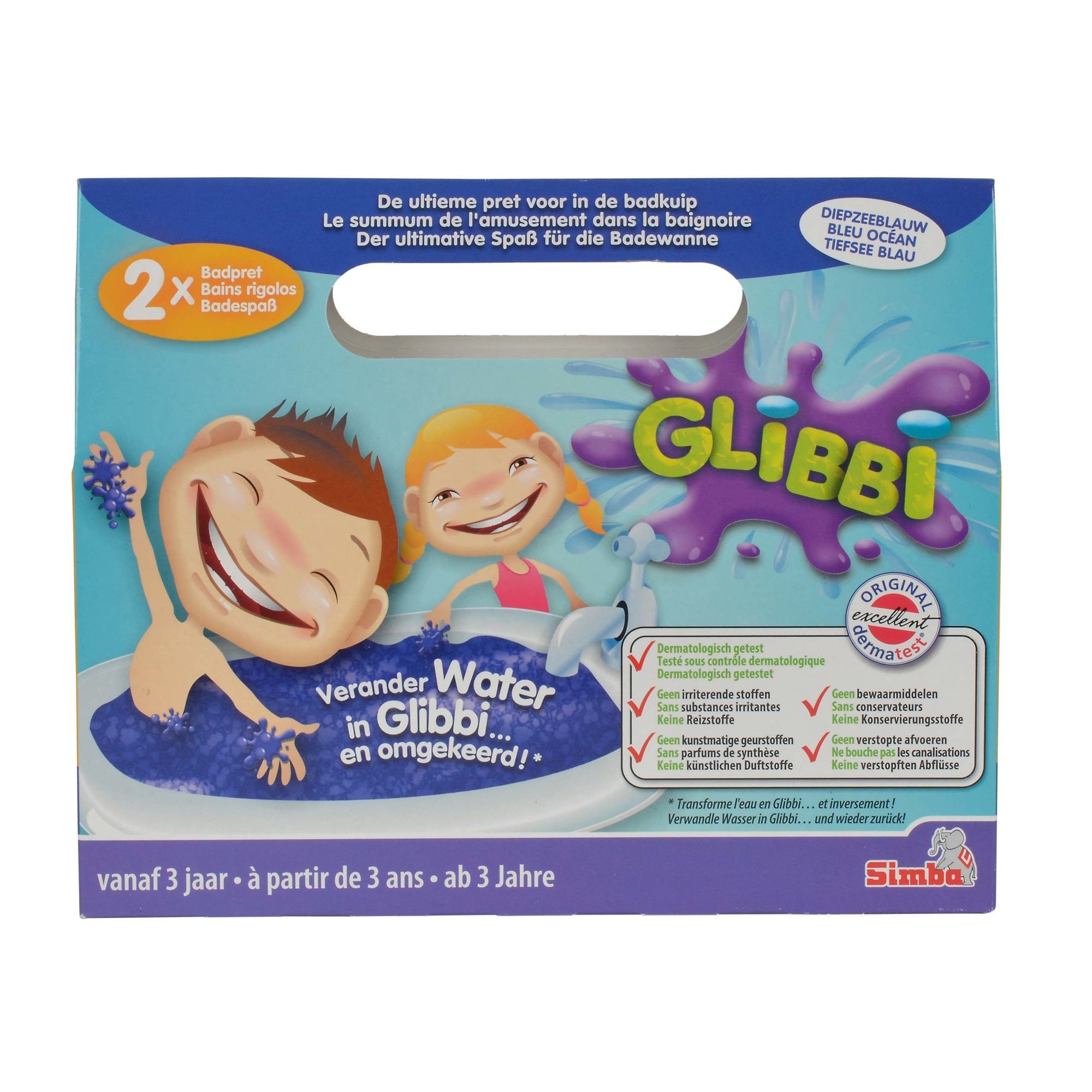 Fotografie Solutie pentru slime Glibbi, jeleu Albastru