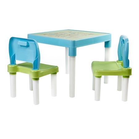 Комплект маса с активности Mappy, С 2 стола, Bleu