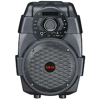 Boxa AKAI portabila , Activa cu sunet clar, Conectivitate prin Functia Bluetooth , Port USB , Display LED , 50Hz-20KHz , Tuner FM , Negru