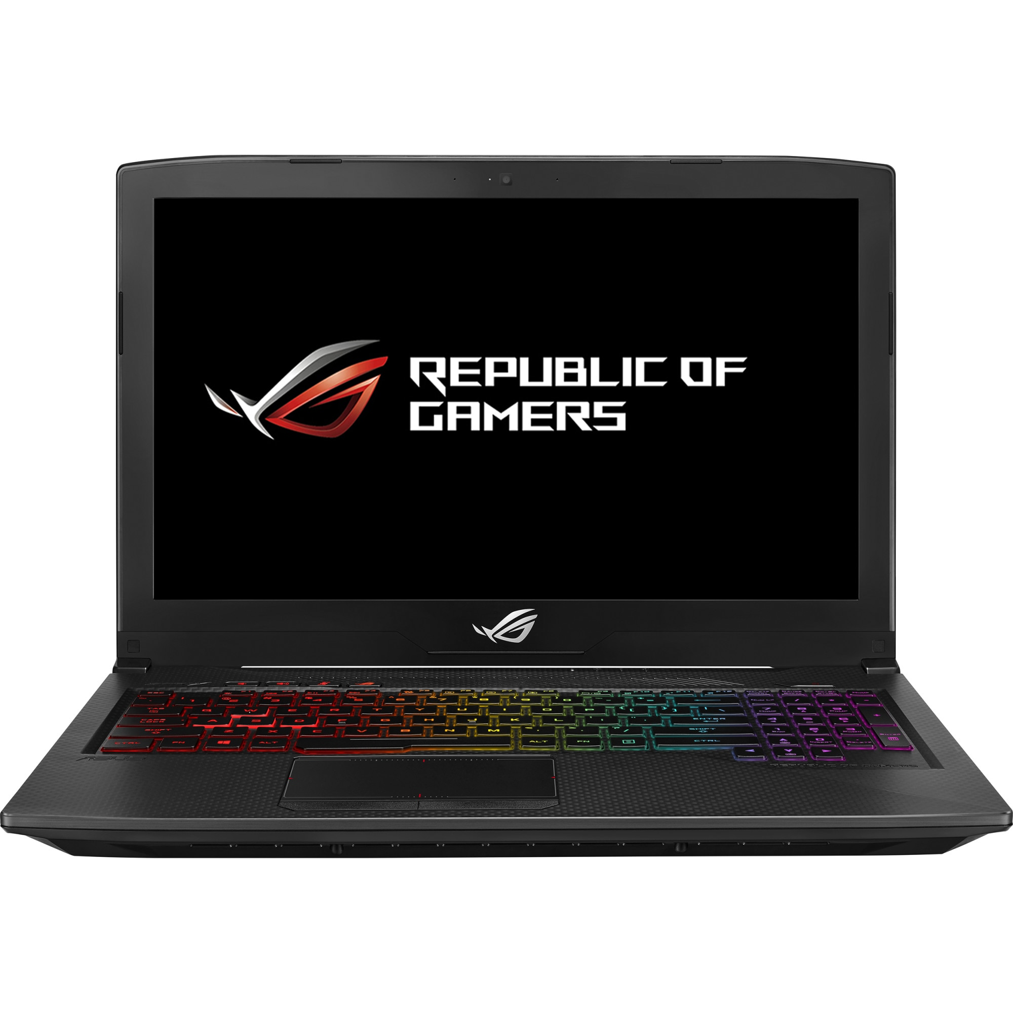 "Fotografie Laptop Gaming ASUS ROG GL703GS-E5011 SCAR Edition cu procesor Intel® Core™ i7-8750H pana la 4.10 GHz, Coffee Lake, 17.3"", Full HD, 144Hz 3ms G-Sync, 16GB, 1TB + 256GB SSD, NVIDIA GeForce 1070 8GB, Free DOS, Black"
