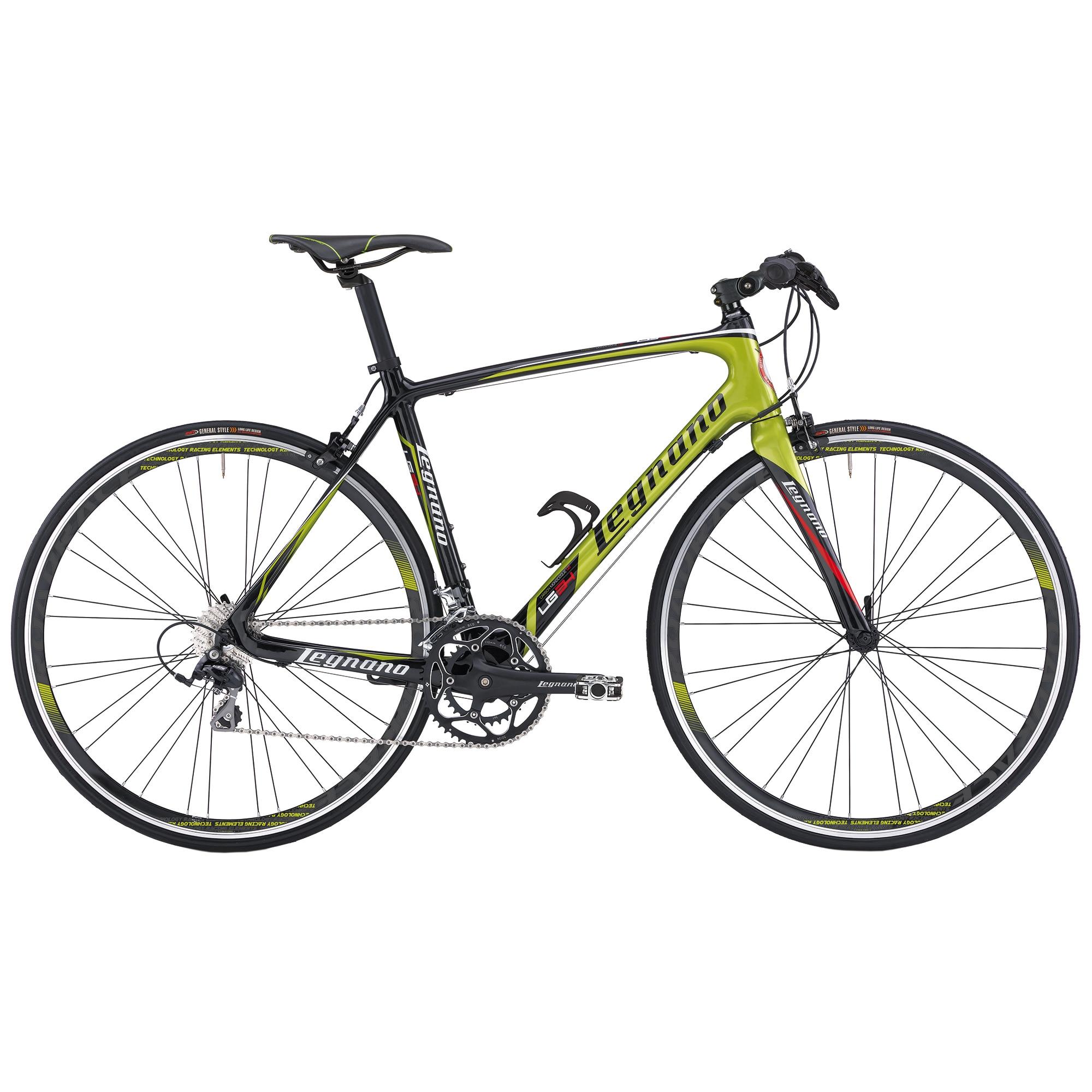 "Fotografie Bicicleta Trekking 28"" Legnano Flat LG34, Carbon, Green/Black, 49cm"