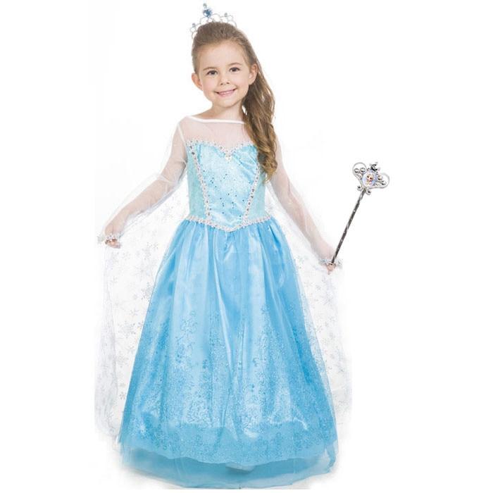 mai tarziu imagini noi din clasic Rochie Elsa - Frumoasa Regina a Zapezii 9-10ani + Papusa Frozen - eMAG.ro