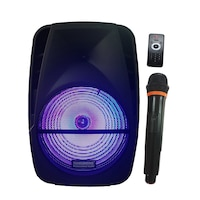 Boxa cu Statie Activa tip Troller,STATION ONE, Microfon Wireless , Telecomanda , Cititor Stick , Card SD,FM Radio,Bluetooth,Difuzor 15 inch , 100 Watti