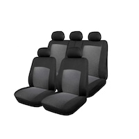 Универсални калъфи тапицерия за предни и разделени задни седалки с 3 ципа пълен комплект flexzon Dream сиви