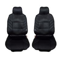 Универсални калъфи тапицерия за предни седалки Flexzon масажор, черни