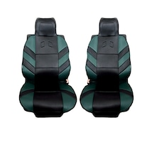 Универсални калъфи тапицерия за предни седалки Flexzon масажор, зелени