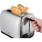 Russell Hobbs 24080-56 Adventure kenyérpirító, kivehető morzsatálca, Ezüst