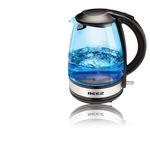 WK-300 Üveg vízforraló, kék LED világítás, 1,7 literes, 2000 watt