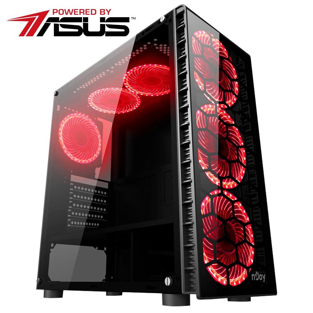 Fotografie Sistem Desktop Gaming Serioux Gamer Powered by ASUS cu procesor Intel Core™ i5-7400 Kaby Lake 3.0GHz, 8GB RAM DDR4, 1TB HDD, 120GB SSD, ASUS Pheonix GeForce® GTX 1050 Ti 4GB