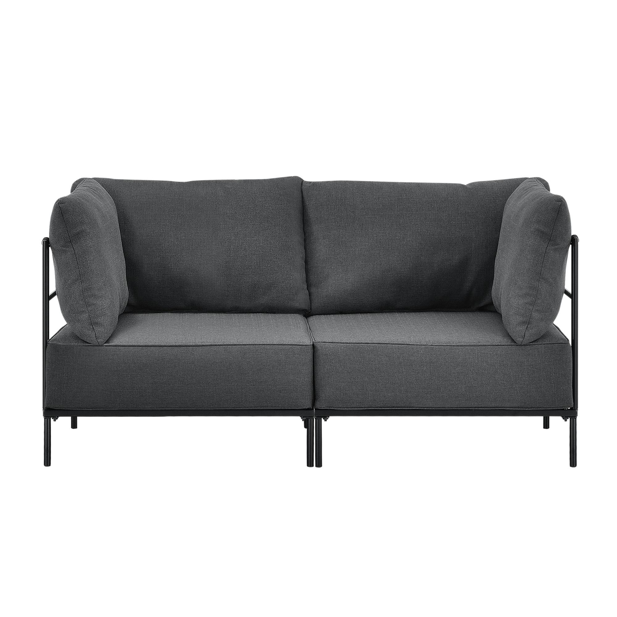en.casa]® Design kanapé komplett ülőgarnitúra szófa 3 részes