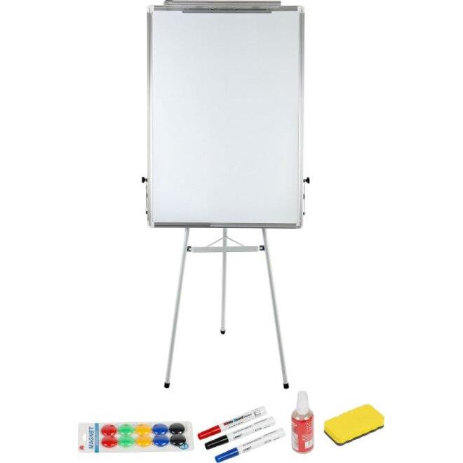 Fotografie Flipchart magnetic A+, 70×100 cm si accesorii, markere, burete, spray, magneti