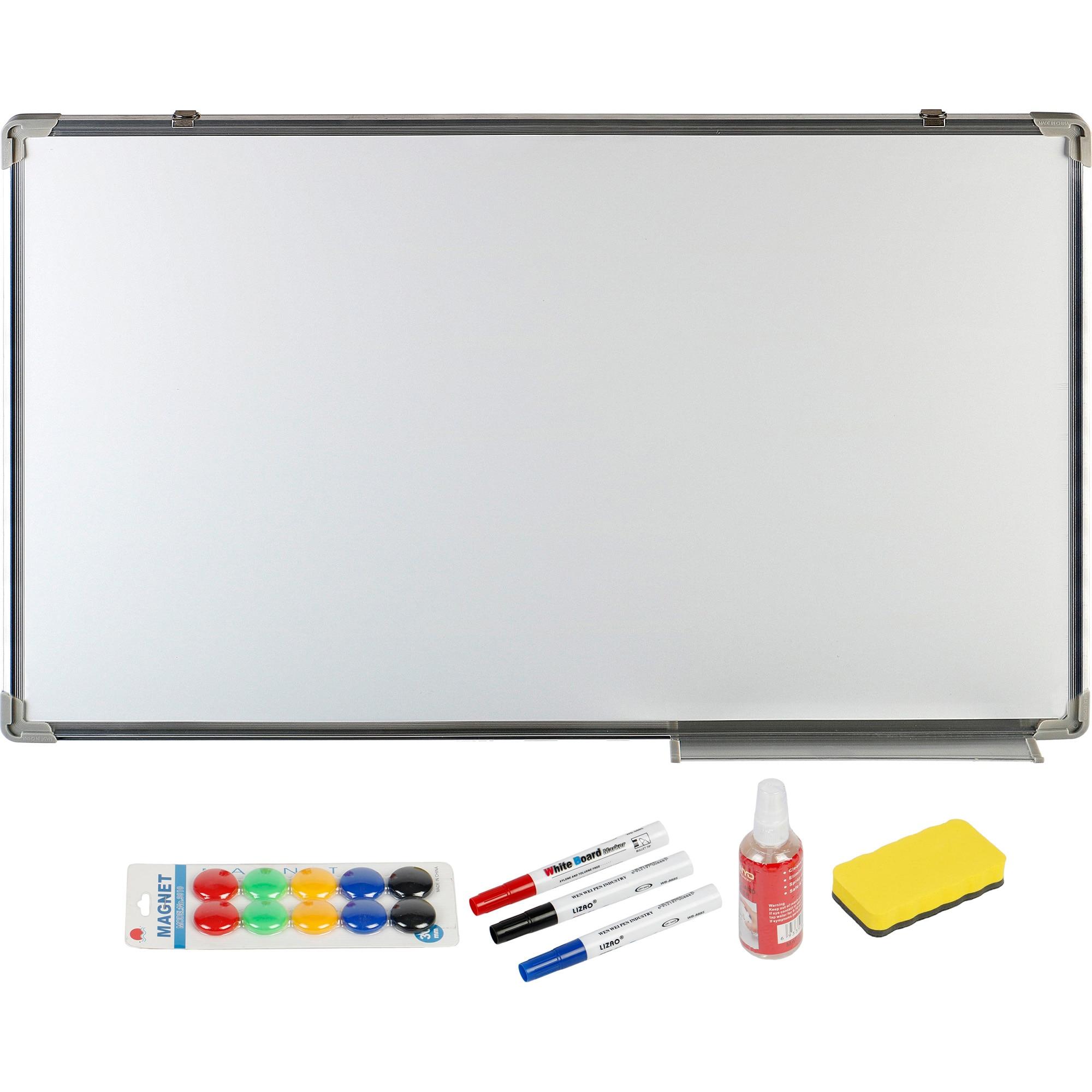 Fotografie Tabla magnetica A+, 60 x 90 cm si accesorii, markere, burete, spray, magneti