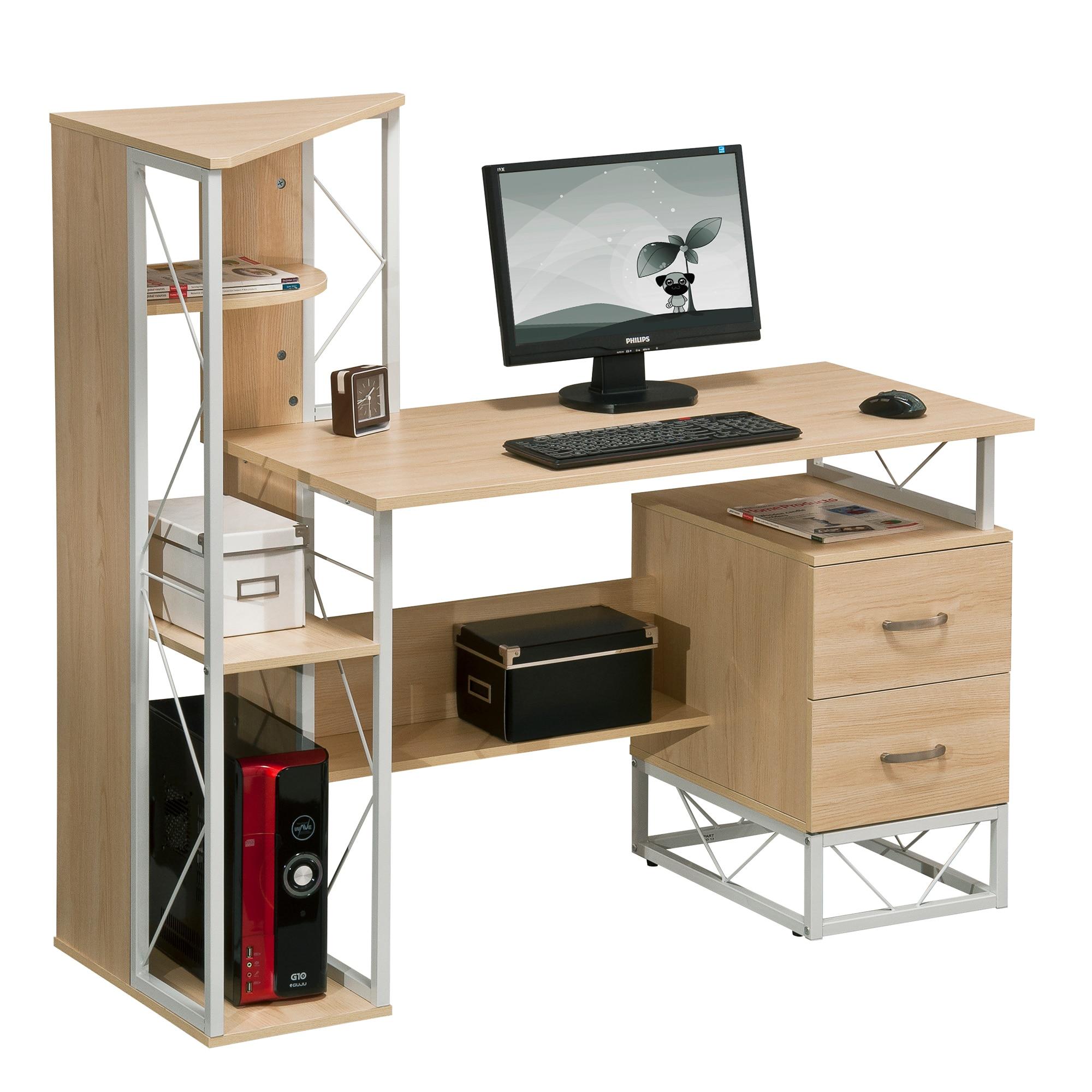 Kring Office Íróasztal, FehérBézs eMAG.hu