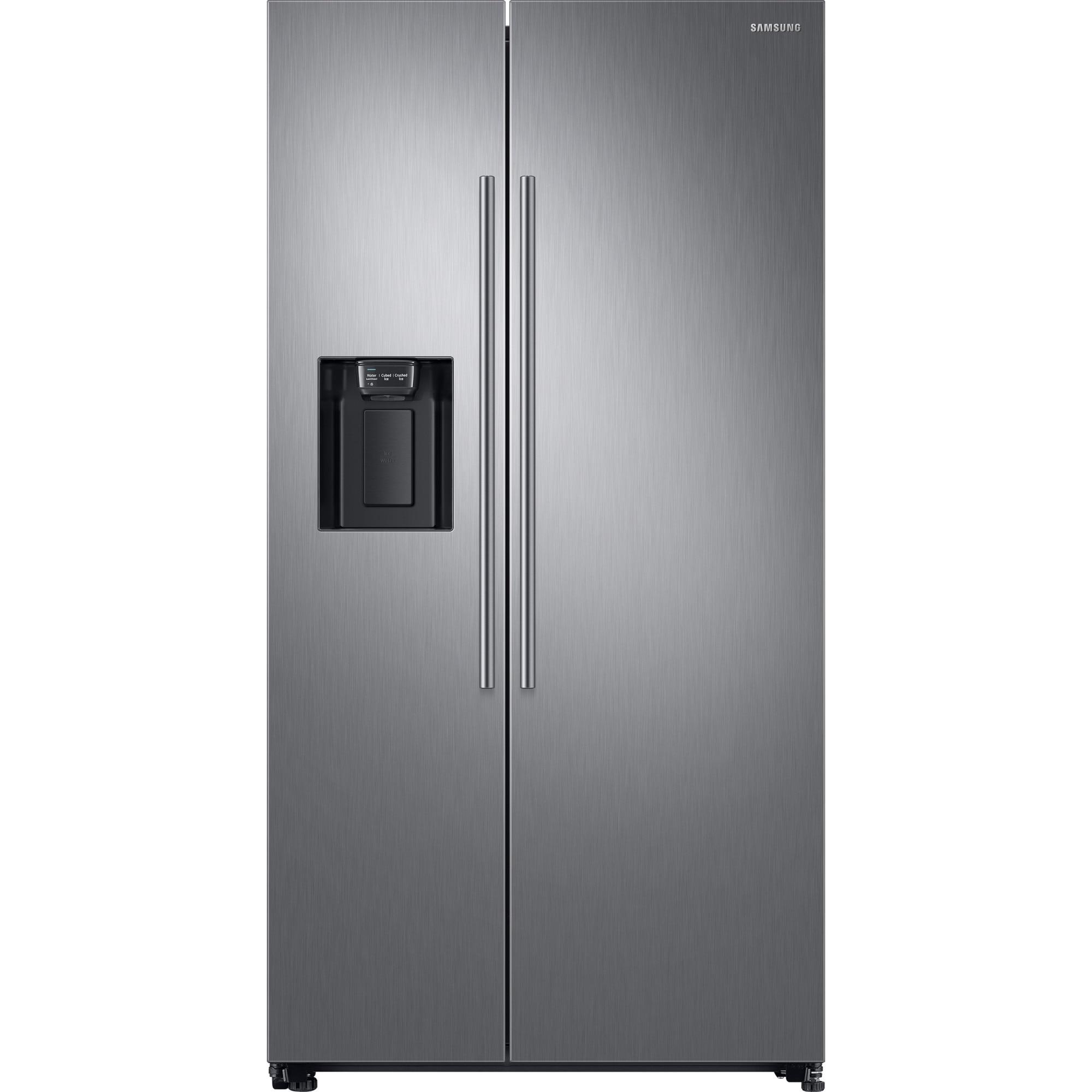 Fotografie Side by side Samsung RS67N8210S9/EF, 609 l, Clasa F, Full NoFrost, Twin Cooling, Compresor Digital Invertor, Display, Dispenser , H 178 cm, Inox