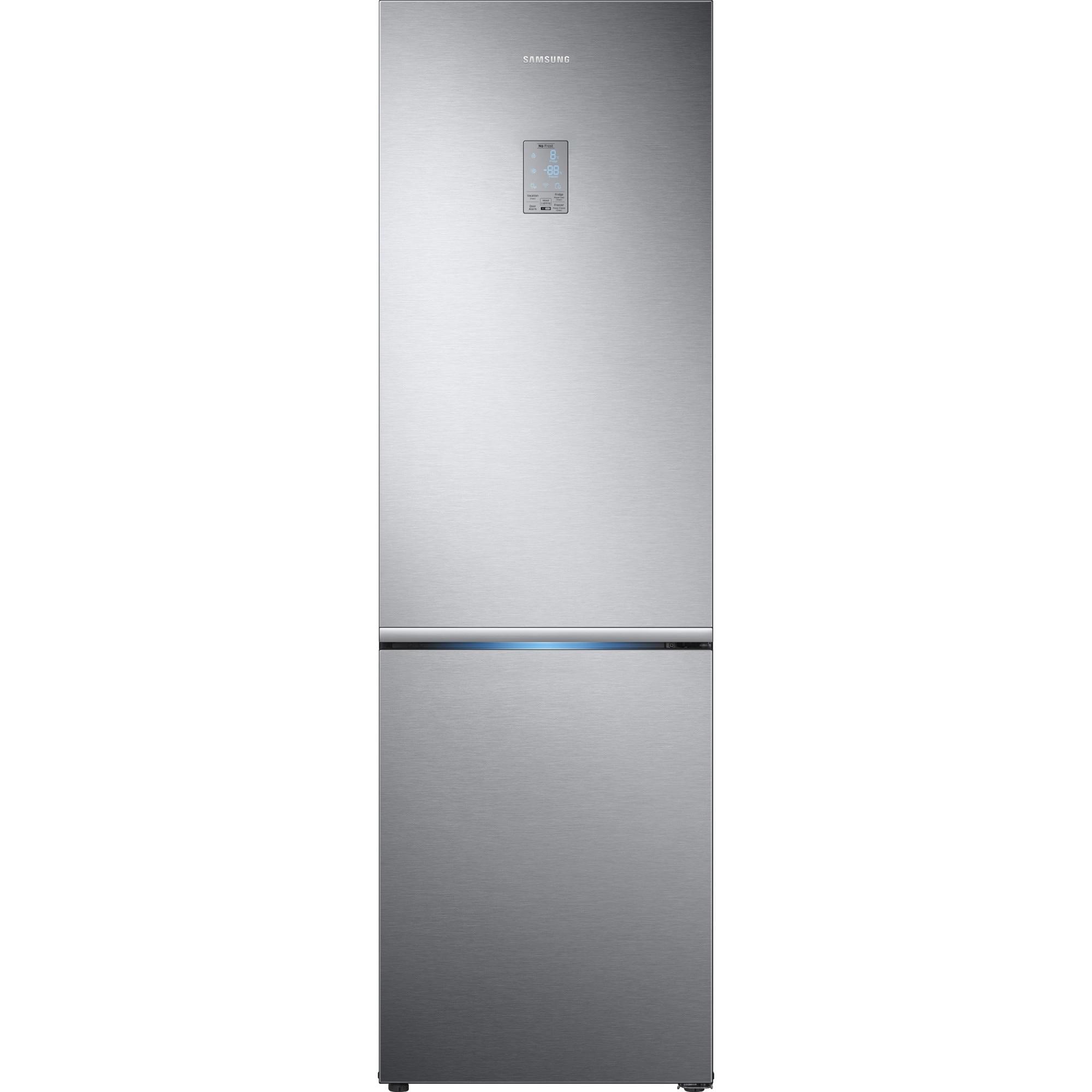 Fotografie Combina frigorifica Samsung RB34K6032SS/EF, 344 l, Clasa A++, Full NoFrost, Compresor Digital Inverter, Display, H 191 cm, Inox