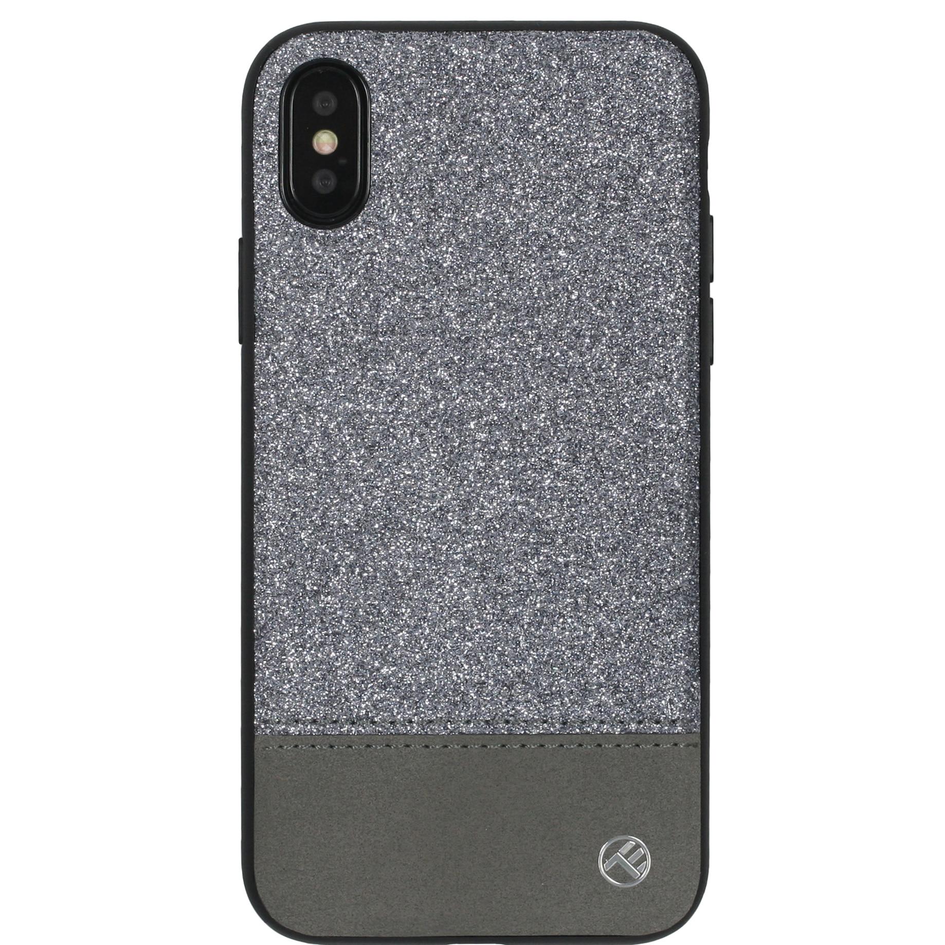 Fotografie Husa de protectie Tellur Glitter II pentru Apple iPhone X, iPhone Xs, Argintiu