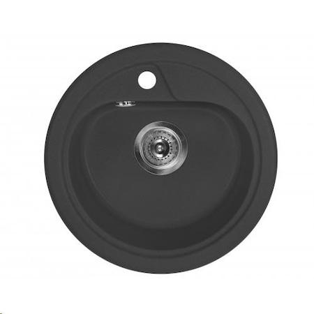 Deante ZRS 2803 Fekete 1 medence Kerek