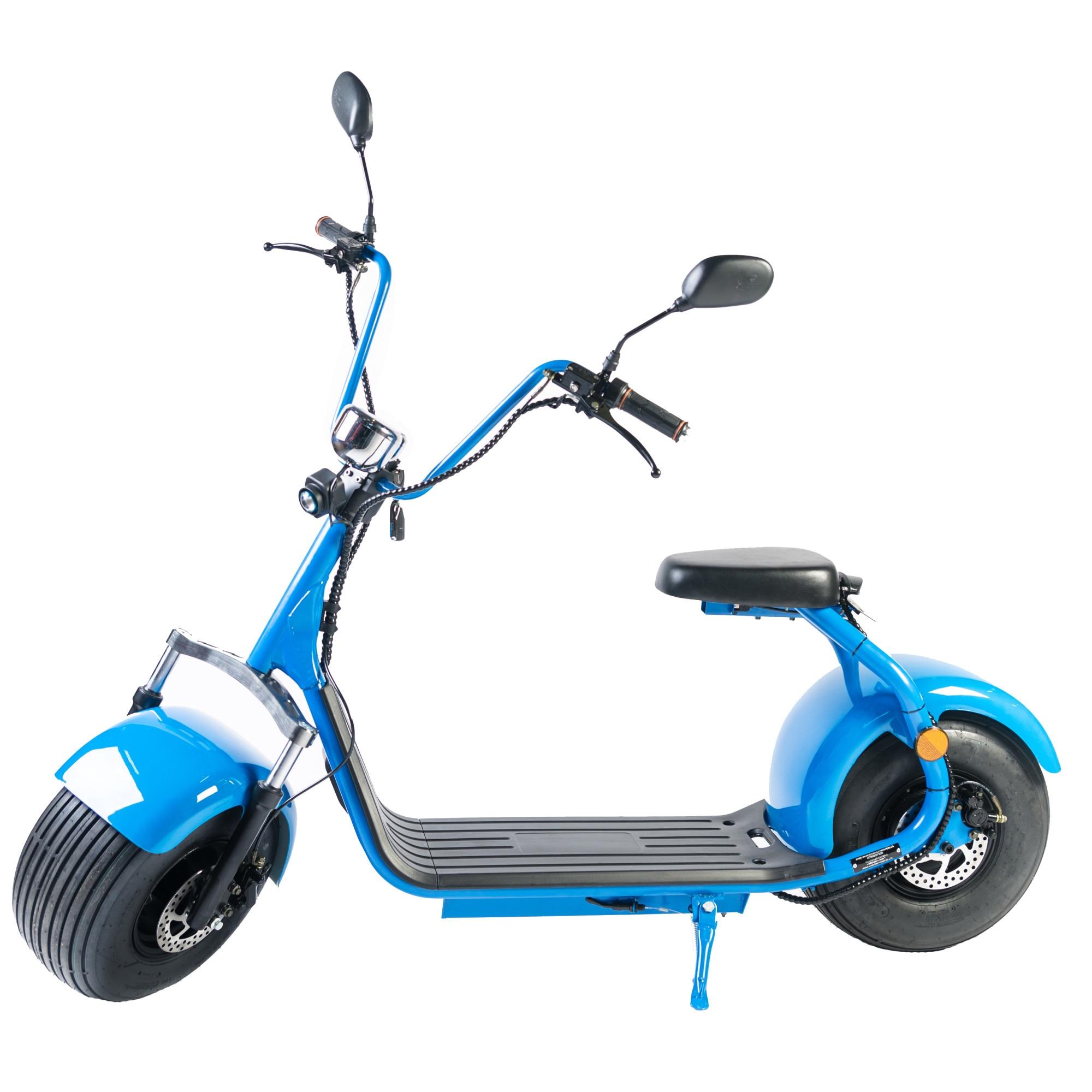 Fotografie Moped Electric FreeWheel City Rider, Omologat RAR, 40 km/h, autonomie 60 km, albastru