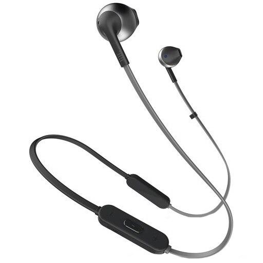 Fotografie Casti audio In-ear JBL T205, Wireless, Bluetooth, Hands-free Call, Pure Bass Sound, 6H, Negru