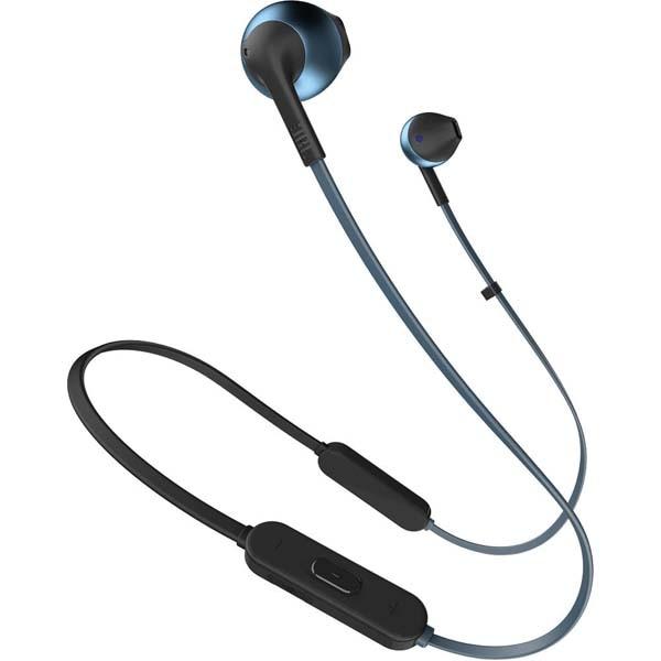 Fotografie Casti audio In-ear JBL T205, Wireless, Bluetooth, Hands-free Call, Pure Bass Sound, 6H, Albastru