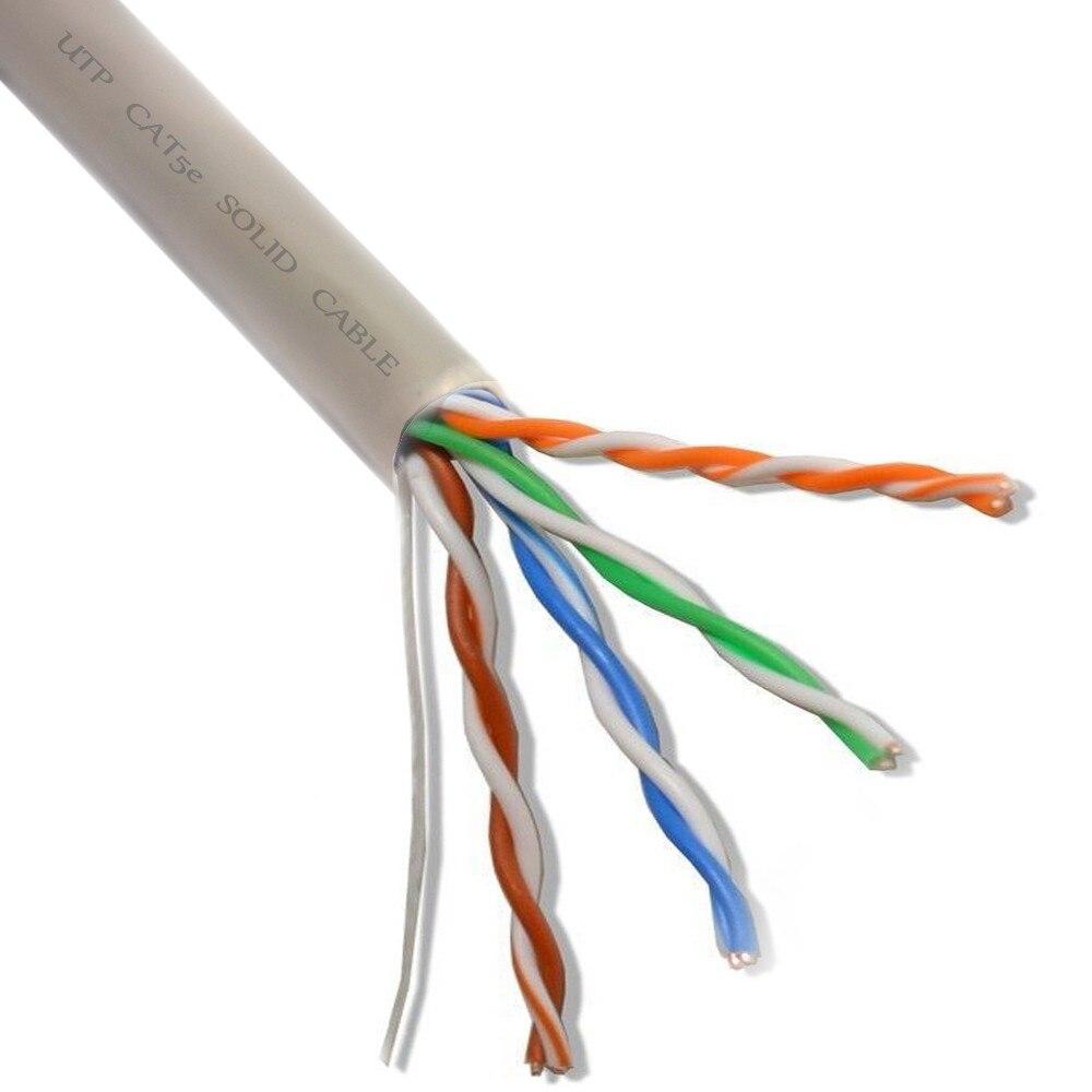Fotografie Cablu UTP CAT5e PNI U05 cu 4 perechi pentru internet 1 Gigabit si sisteme de supraveghere, Rola 305m