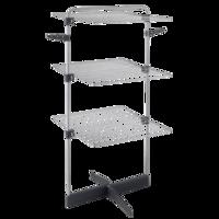 Uscator de rufe vertical Metaltex, model Thunder, 3 nivele, pliabil, suport umerase, 22 m
