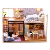 Összerakható, összeszerelhető babaház, bútorokkal, DIY, +3D