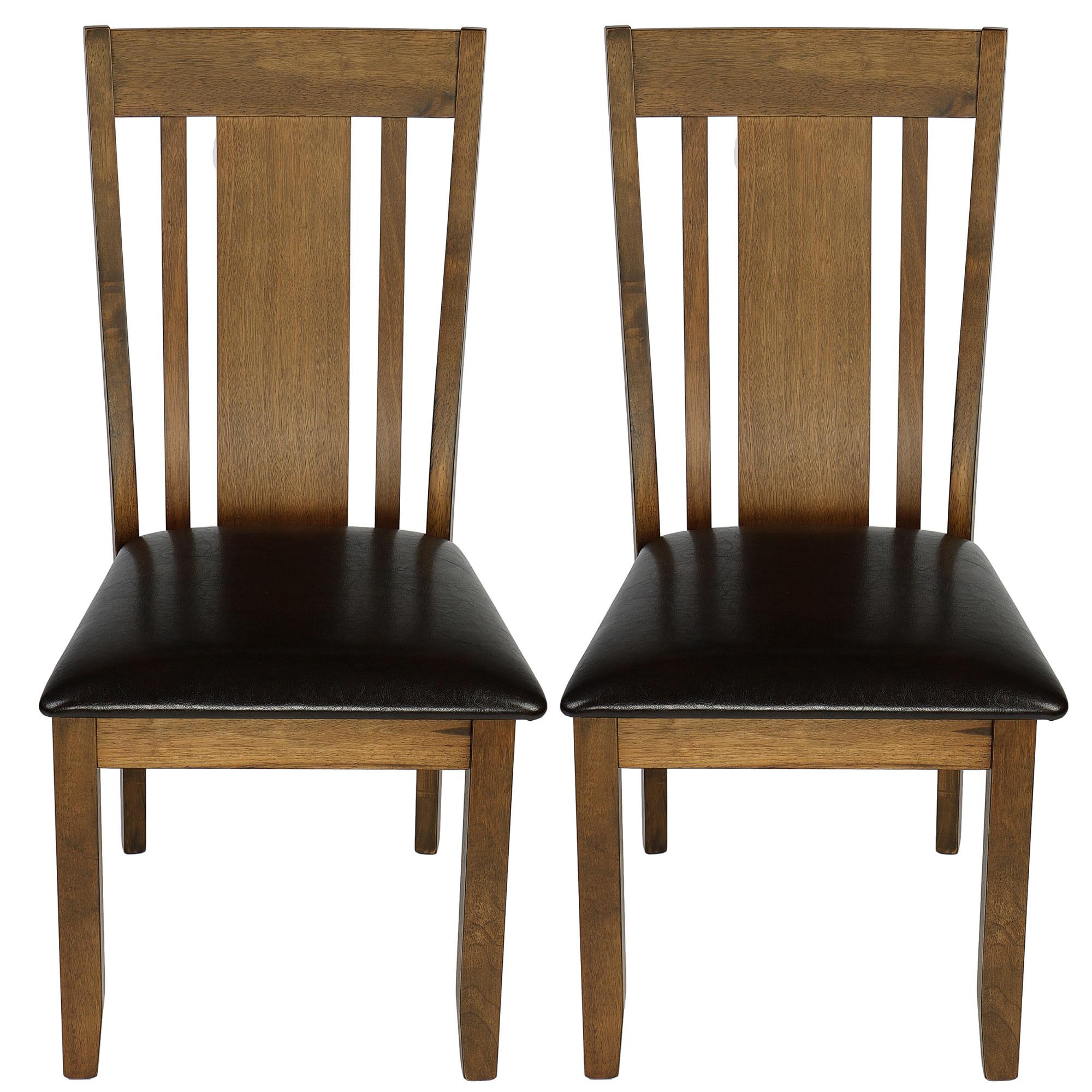 Kring Florence 2 db étkező szék, MDFMűbőr, Barna