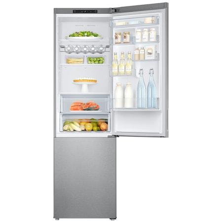 Combina frigorifica Samsung RB37J5010SA, 367 l, Clasa A+, Full No Frost, H 201 cm, Argintiu