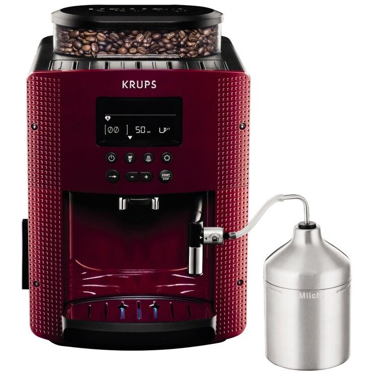 Fotografie Espressor automat Krups Espresseria EA8165, 1450W, 15 bar, 1.7 l, Rosu/Negru
