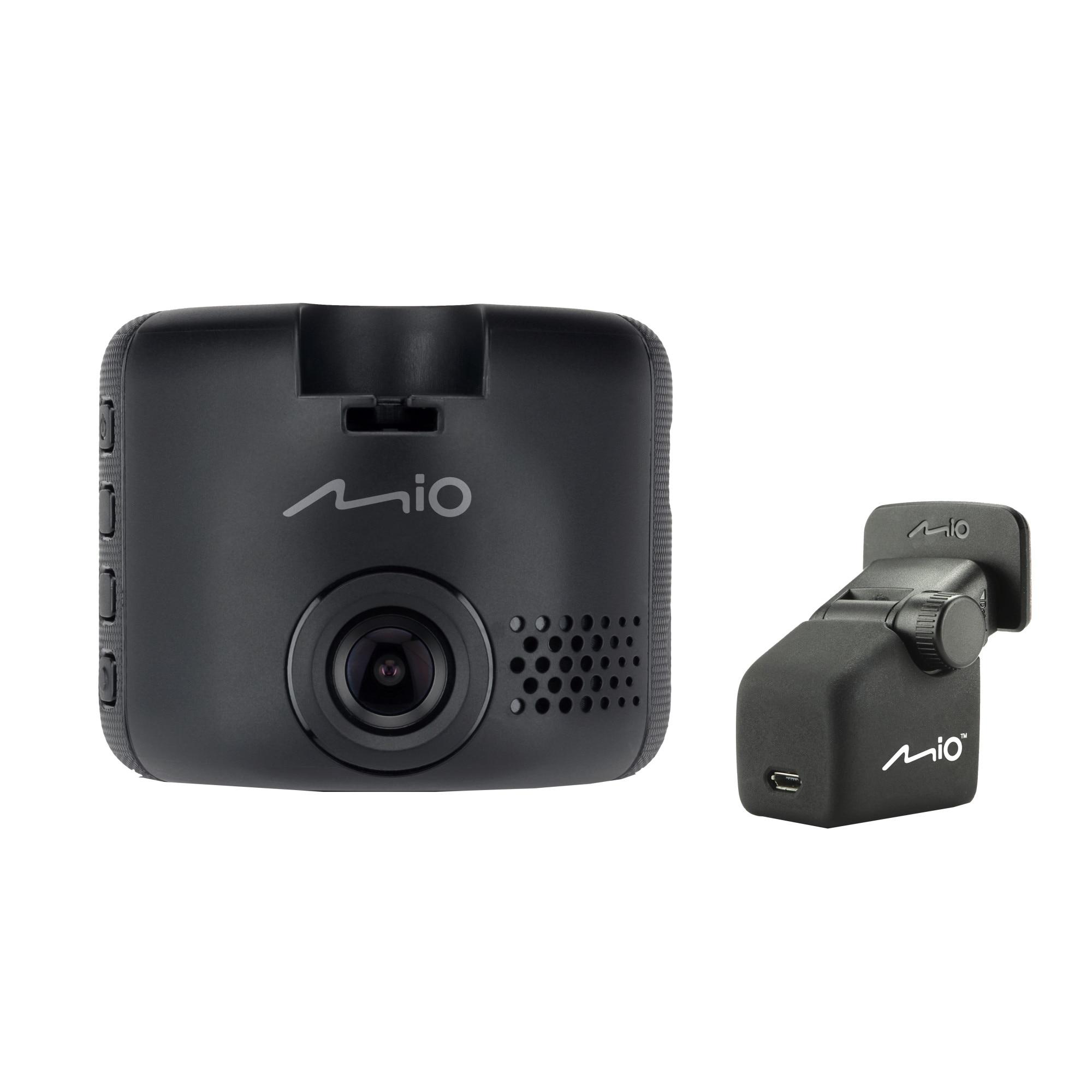 """Fotografie Camera auto DVR duala Mio MiVueC380D, Full HD, ecran 2"""", unghi 130 de grade, senzor G cu 3 axe"""