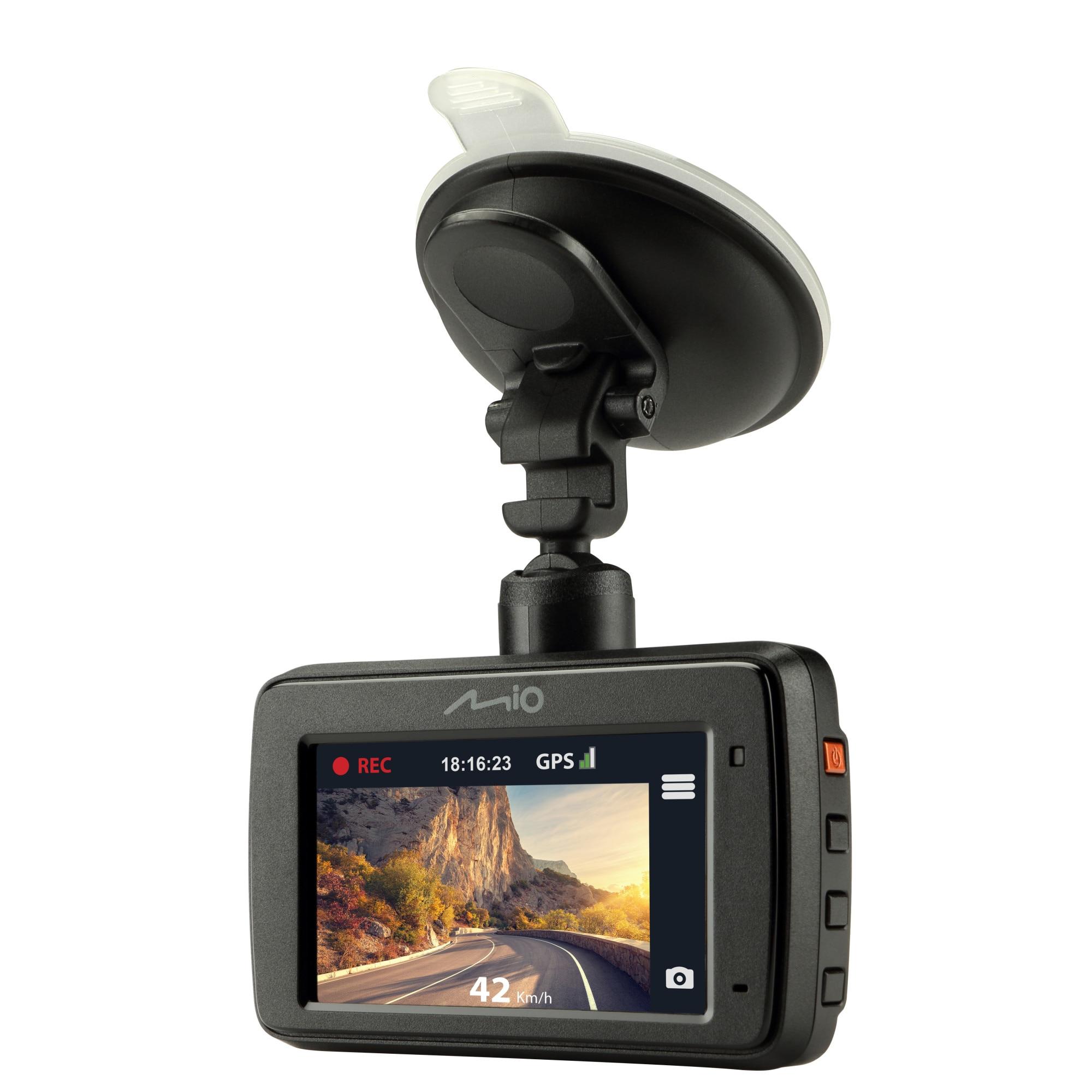 "Fotografie Camera auto DVR Mio MiVue731, Full HD, ecran 2.7"", GPS integrat, unghi 130 de grade, sistem de avertizare LDWS"