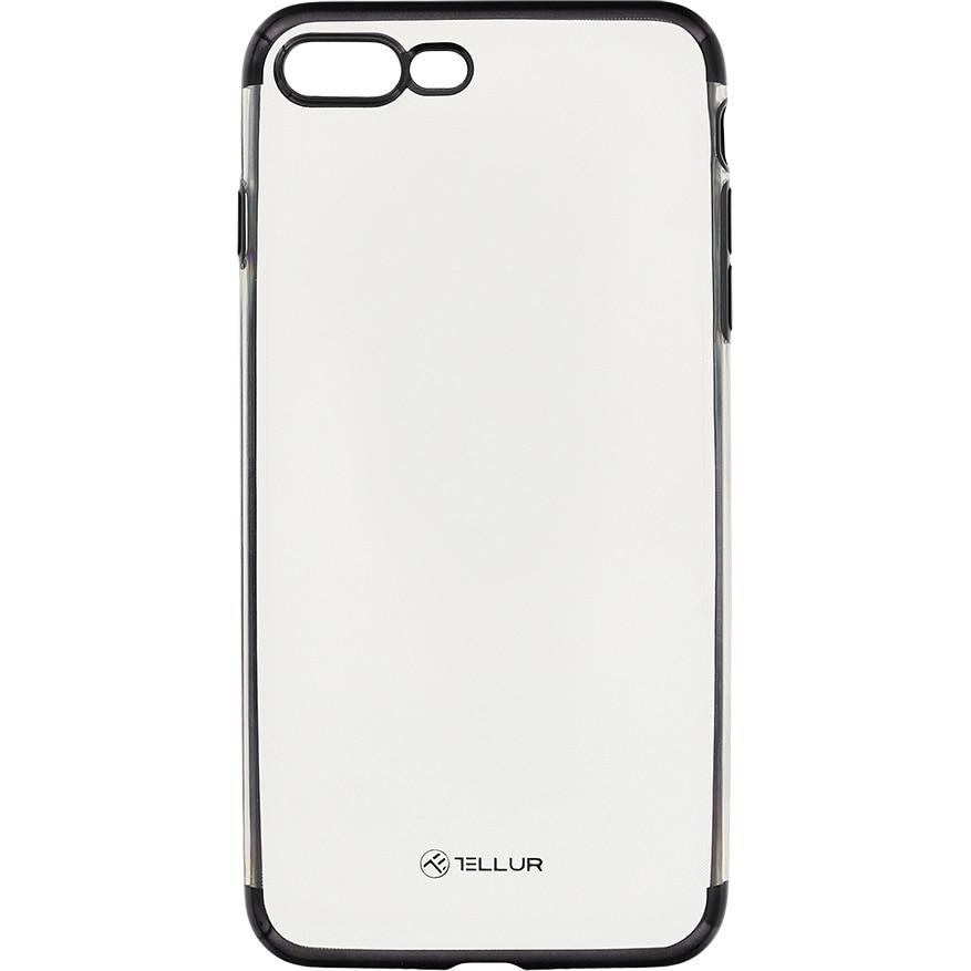 Fotografie Husa de protectie Tellur Silicon Electroplated pentru Apple iPhone 8 Plus, Negru