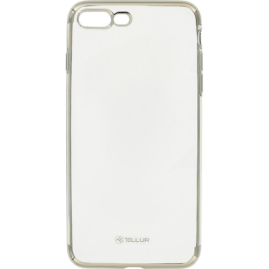 Fotografie Husa de protectie Tellur Silicon Electroplated pentru Apple iPhone 8 Plus, Argintiu