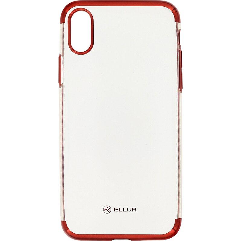 Fotografie Husa de protectie Tellur Silicon Electroplated pentru Apple iPhone X, iPhone Xs, Rosu