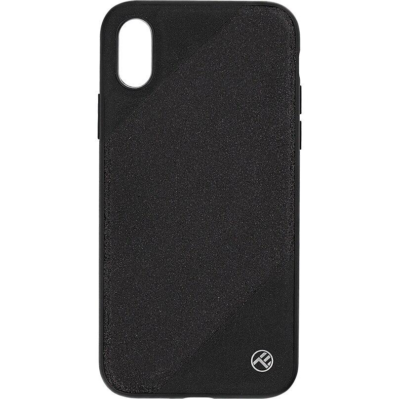 Fotografie Husa de protectie Tellur Glitter III pentru Apple iPhone X, iPhone Xs, Negru