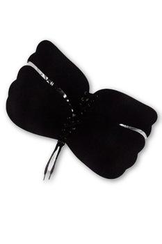 Bella Rosa push-up, szilikon, pántok és kapcsok nélküli melltartó,fekete,B
