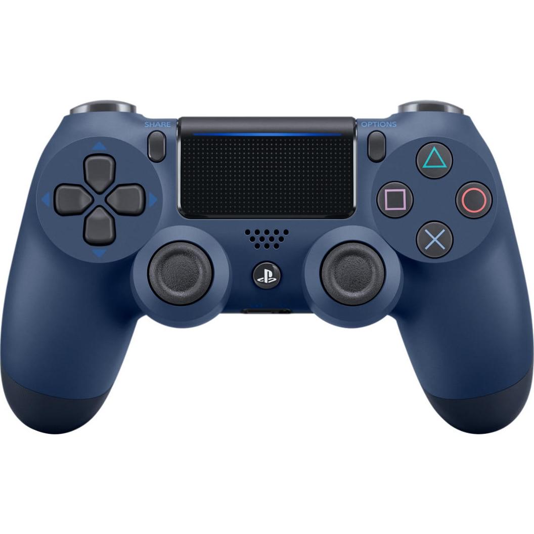 Fotografie Controller Sony Dualshock 4 v2, pentru PlayStation 4, Midnight Blue