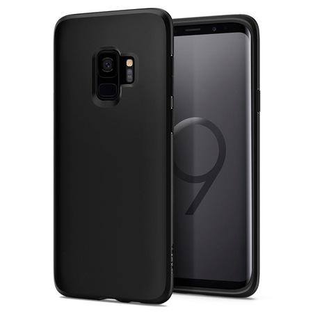 Husa Premium SPIGEN Originala pentru Samsung Galaxy S9 (G960), Liquid Crystal, Neagra