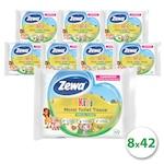 Zewa Kids nedves toalettpapír gyerekek számára, 8x42 db