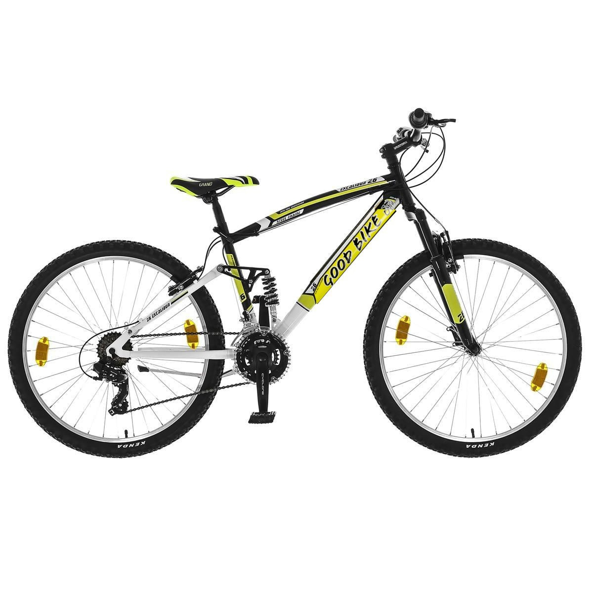 "Fotografie Bicicleta MTB 26"" Good Bike Excalibur 21V, 42cm/S, Black/Yellow"