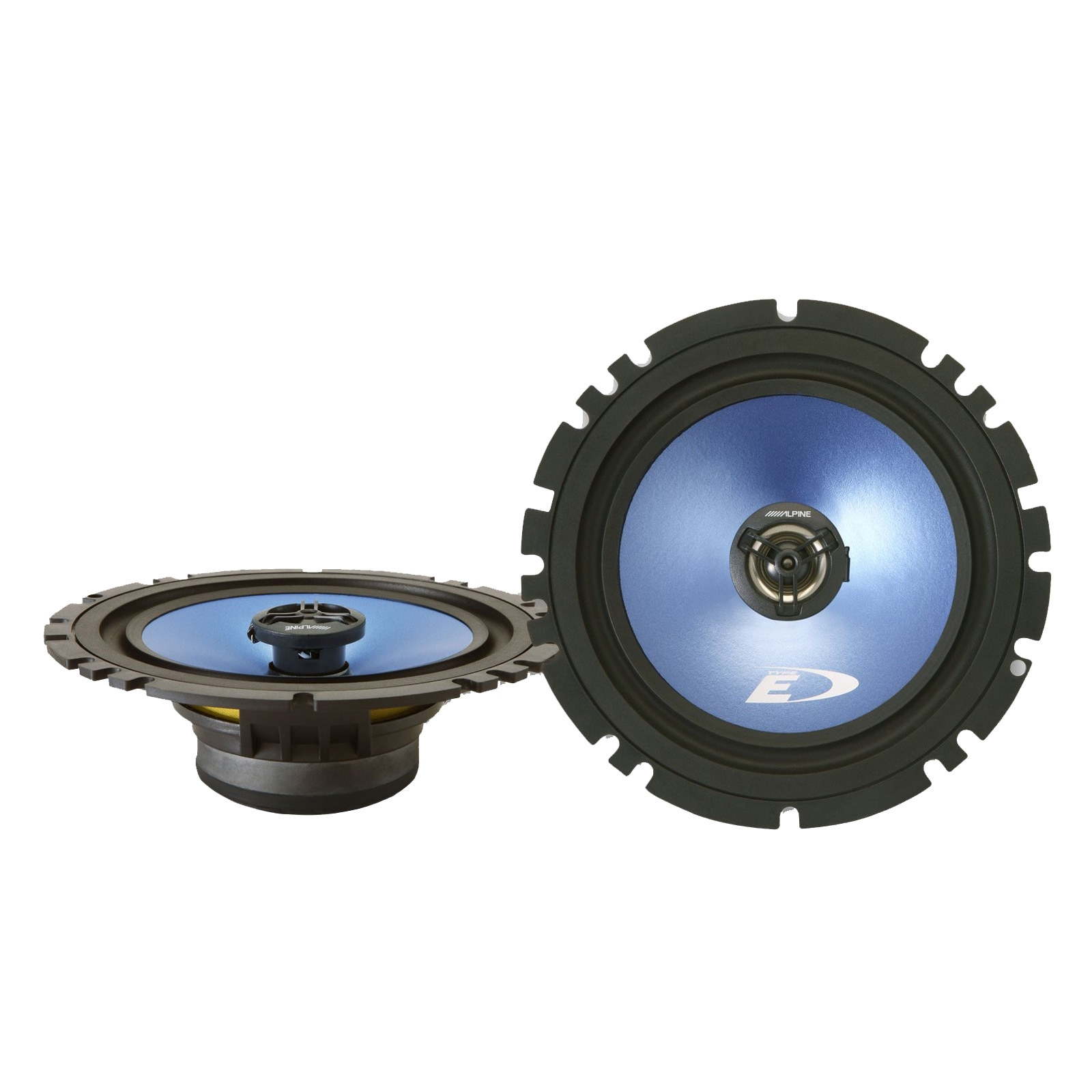 "Fotografie Set difuzoare auto coaxial Alpine SXE-Blue, SXE-17C2, 6-1/2"" (16.5 cm), 2 cai, 240W, 40W RMS"