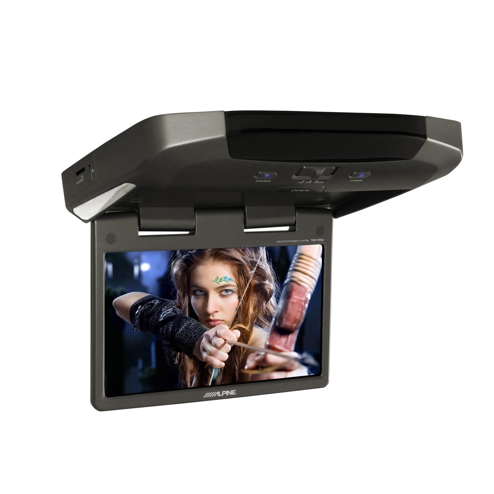 Fotografie Monitor auto plafoniera Alpine, HD, USB media player, slot SD, 2 x AUX AV inputs, redare MP3/WMA/AAC,Xvid, Wireless Remote Control,