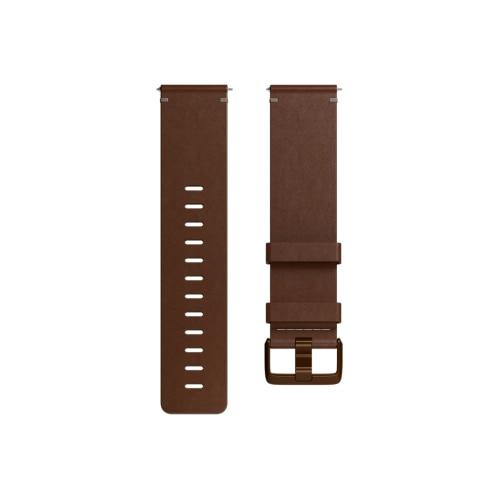 Fotografie Curea ceas smartwatch Fitbit Versa, Accessory Leather Band, Large, Cognac