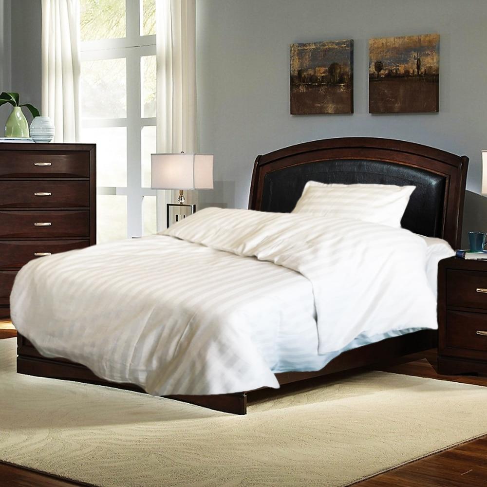 Fotografie Lenjerie de pat pentru 1 persoana Kotonia Home, damasc, 100% bumbac, alb
