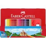 Faber-Castell színes ceruzák, 48 szín + 4 fém doboz kiegészítő