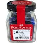 Пълнители с мастило Faber-Castell, Малки, Сини (30 броя/кутия)