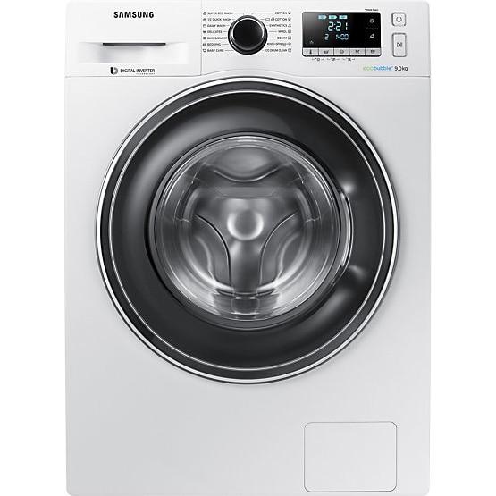 Fotografie Masina de spalat Samsung WW90J5446EW/LE, 9 kg, 1400 RPM, Clasa A+++, Motor Digital Inverter, Eco Bubble, Diamond Drum, Alb