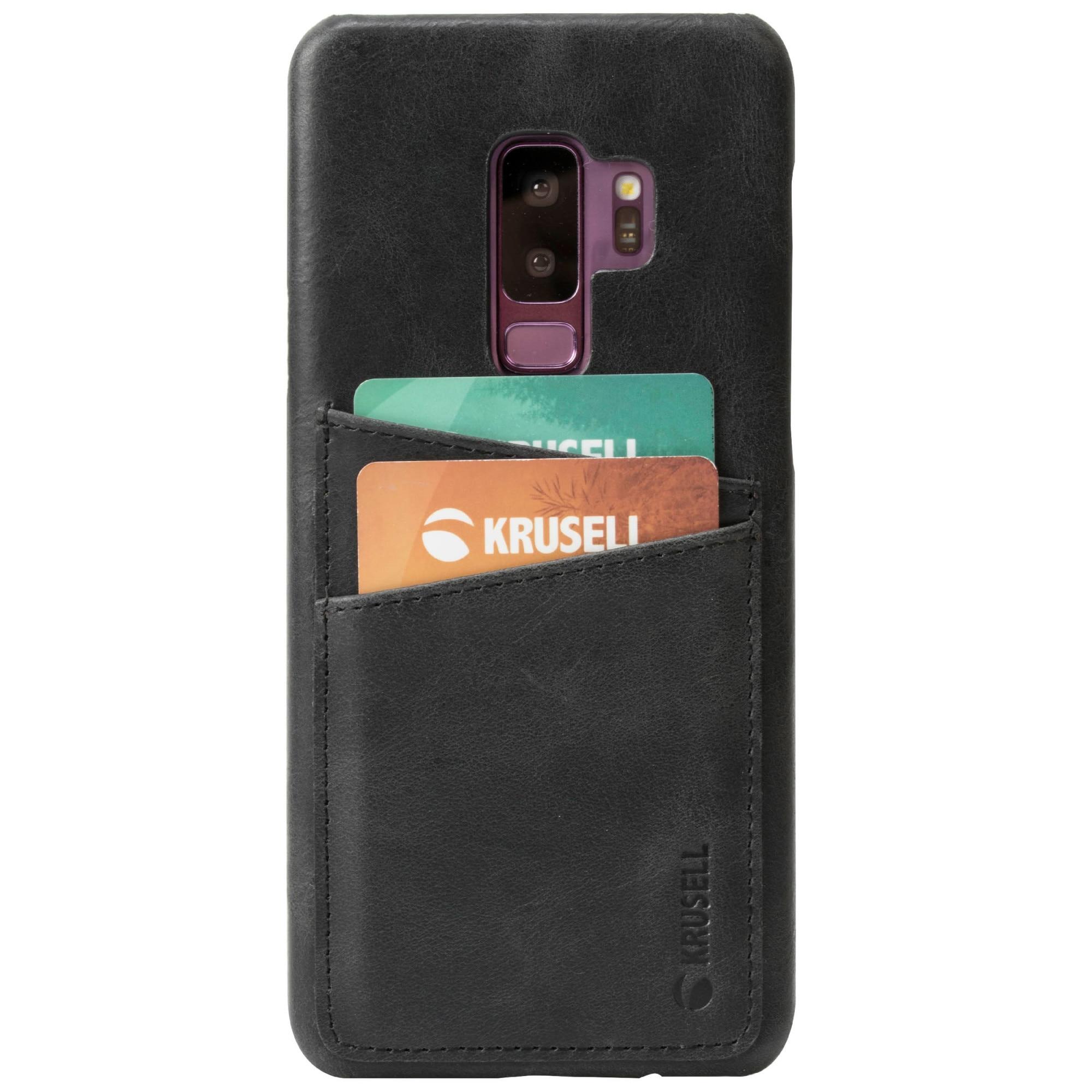 Fotografie Husa de protectie Krusell Sunne 2 pentru Samsung Galaxy S9 Plus (G965F), Leather Vintage Negru