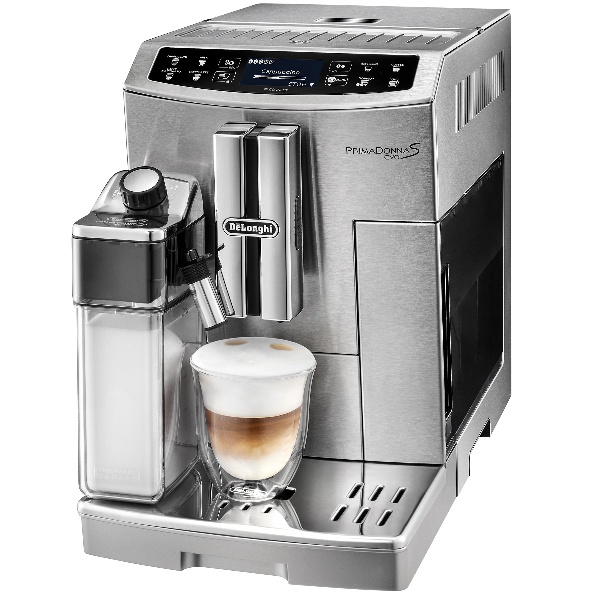 Fotografie Espressor automat De'Longhi ECAM 510.55.M, 1450 W, 1.8 L, 15 bar, Argintiu